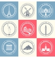 Set Badges of Travel vector image