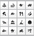 set of 16 editable building icons includes vector image