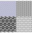 Set of geometric pattern in op art design art vector image vector image