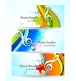 Set of music banners vector image