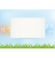 Sign on summer background vector image vector image