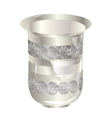 silver glass vector image vector image