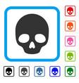 skull framed icon vector image vector image
