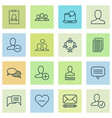 social icons set with delete notification vector image vector image