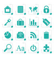 stylized simple business and internet icons vector image vector image