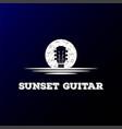 sunrise sunset moon lake river creek guitar vector image vector image