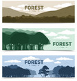 Tree Forest Banners Set vector image vector image