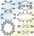 Vintage calligraphic design element set vector image vector image