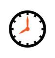 wall clock icon design template vector image