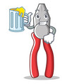 with juice pliers character cartoon style vector image vector image