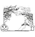 halloween doodle frame vector image