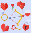 Valentine object vector image