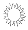 Sun burst in white and black colors vector image
