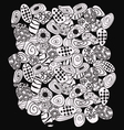 Abstract black and white with stones pattern vector image vector image