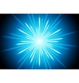 Abstract blue glowing beams background vector image vector image