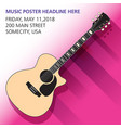 an acoustic guitar background vector image vector image