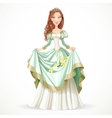 Beautiful princess with brown hair vector image vector image
