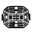 big tennis arena icon simple style vector image vector image
