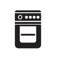 black gase stove icon on white background vector image vector image