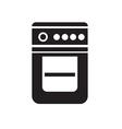 black gase stove icon on white background vector image
