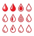 Blood Drop Emblem Logo Template Icon Set vector image