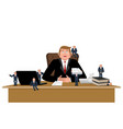 boss and helpers businessman and business vector image