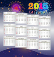 Calendar 2015 on Fireworks Background vector image