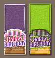 cards for happy birthday vector image vector image