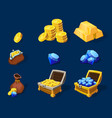 Cartoon Treasure Elements Set vector image