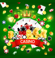 casino poker jackpot wheel fortune gamble game vector image vector image