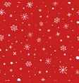 christmas seamless pattern white snowflakes on vector image