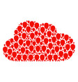 cloud composition of celebration balloon icons vector image vector image