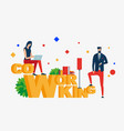 co working people in creative office vector image