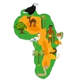 Continent africa and nature vector image vector image
