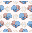 cute elephant hug hearts seamless repeat vector image vector image