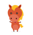 cute smiling happy funny little horse vector image vector image