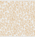 delicate simple floral seamless pattern in golden vector image
