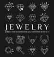 diamonds icon set vector image vector image