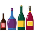 different bottles alcohol alcoholic drinks of vector image vector image