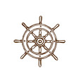 drawn of wheel in marine vector image vector image