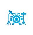 drum flat icon vector image vector image