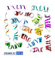 festive colorful ribbons on white vector image vector image