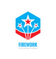 firework - logo template concept vector image vector image