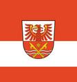 flag of markisch-oderland in brandenburg germany vector image vector image