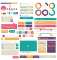 Flat elements design ui set vector image