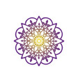 flower mandala ornament icon logo design vector image vector image