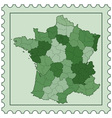 France on stamp vector image vector image