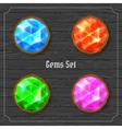 Gems set vector image