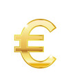 golden euro symbol isolated web icon vector image