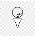 golf ball concept linear icon isolated on vector image